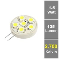 6 SMD G4 LED Warmweiß 12V