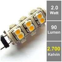 26 SMD G4 LED Warmweiß 12V