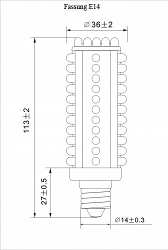 highlumen 66 led jdr e14 wei stabbirne led leuchtmittel lampe. Black Bedroom Furniture Sets. Home Design Ideas