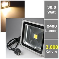 30W LED-Fluter 230V, warmweiß, 2400 lm, IP65