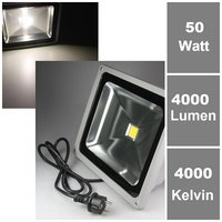 50W LED-Fluter 230V, daylight, 4000 lm, IP65