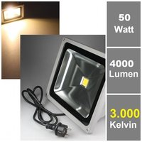 50W LED-Fluter 230V, warmweiß, 4000 lm, IP65
