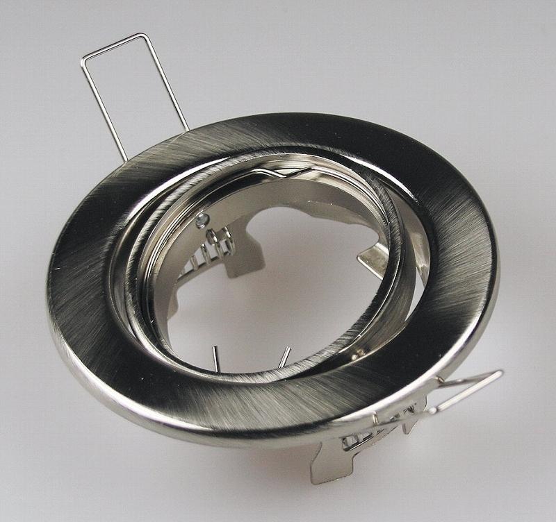 decken einbaustrahler chrom matt 88mm f r 50mm lampen led100 einbaustrahler und mehr. Black Bedroom Furniture Sets. Home Design Ideas