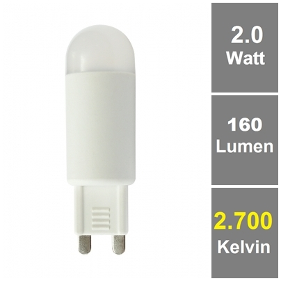 BIOLEDEX® LED Lampe G9 2W 160Lm Kompakt Warmweiß