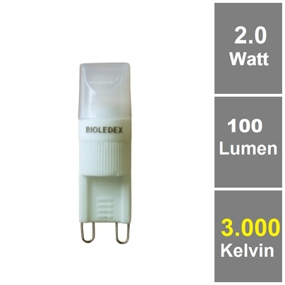 BIOLEDEX® LED Lampe G9 2W 100Lm Kompakt Warmweiß