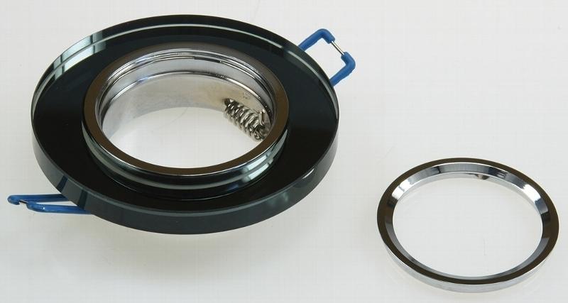 einbaustrahler crystal starr 90mm schwarz led100 einbaustrahler und mehr. Black Bedroom Furniture Sets. Home Design Ideas