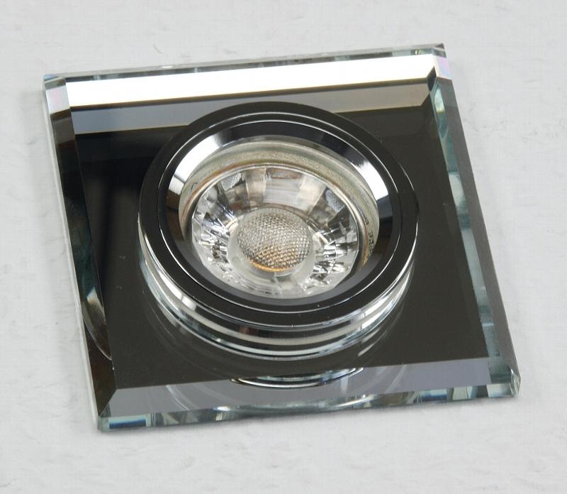 einbaustrahler crystal starr 90x90mm silber led100 einbaustrahler und mehr. Black Bedroom Furniture Sets. Home Design Ideas