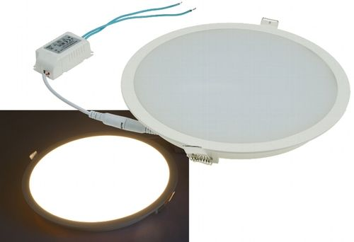 "LED Licht-Panel ""CP-225R"", Ø 225mm, IP54 230V, 18W, 1440 Lumen, 2900k/warmweiß"