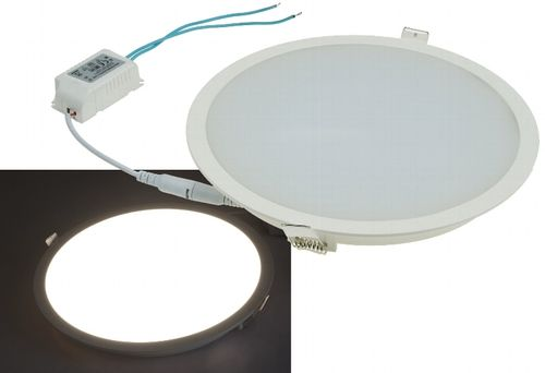 "LED Licht-Panel ""CP-225R"", Ø 225mm, IP54 230V, 18W, 1500 Lumen, 4200K/neutralweiß"