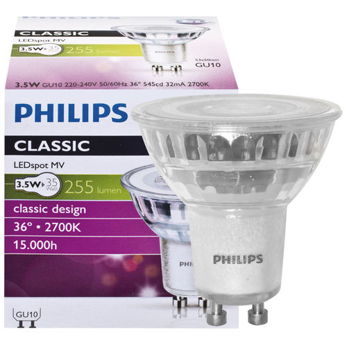 Philips GU10 LED Strahler 3.5W 255Lm warmweiss