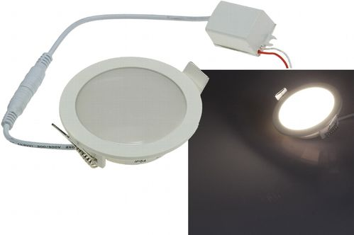 "LED Licht-Panel ""CP-90R"", Ø 90mm, IP54  230V, 5W, 400 Lumen, 2900K / warmweiß"