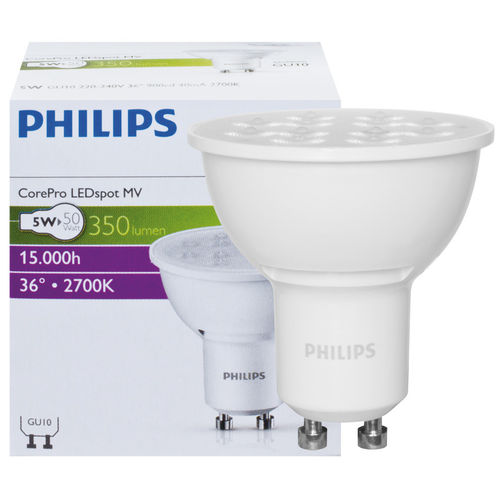 Philips GU10 LED Strahler 5.5W 350 Lm warmweiss